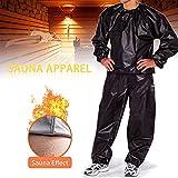 Schwitzanzug Herren zum Abnehmen,Saunaanzug PVC Gewichtsverlust Sauna Workout Trainingsanzug für Gym Running ExerciseBlack-XXL