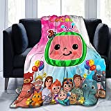 Blanket Super Soft Warm Throw Blankets Cute Lightweight Blankets Good Prensent for Kids and Child Bed Blankets All Season