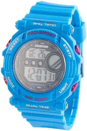 PEARL sports Uhr mit Stoppuhr: Digitale Armbanduhr mit Stoppuhr, blau (Stoppuhr Armbanduhr Sport)