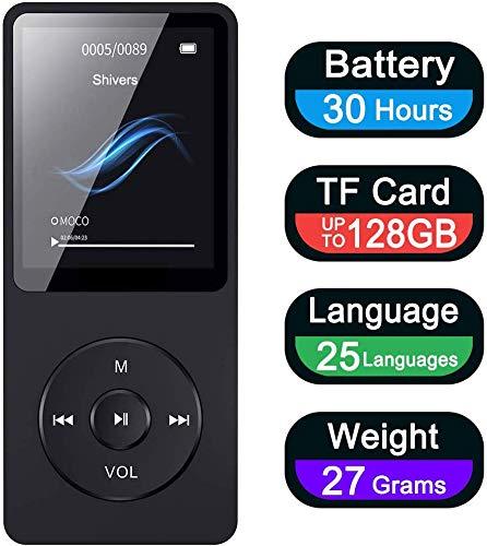 Aigital MP3 Player 16GB, Portable Hi-Fi Music Player With Headphone FM...