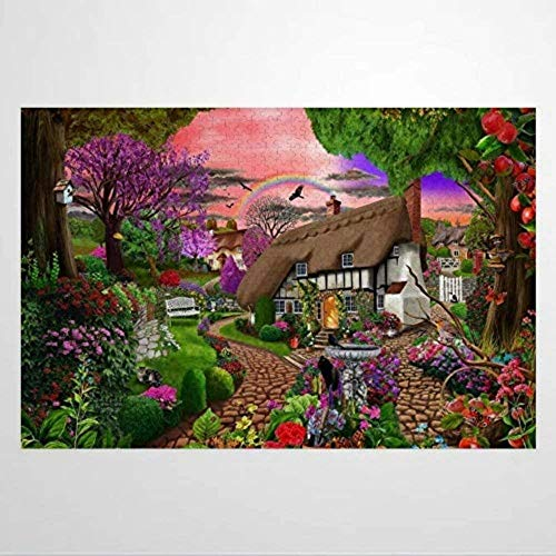 Jigsaw Puzzles for Adults 1000 Piece - Cottage Garden - Kids Puzzles Toys Educational Puzzles Jigsaw