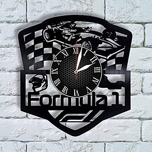 AIYOUBU Racing Geschenke für Männer Ideen WanduhrRennwagen GeburtstagRacing Wanddekor Grand Prix Kunst Formel 1 Ferrari Formel 1 Wandkunst F1 Track Map
