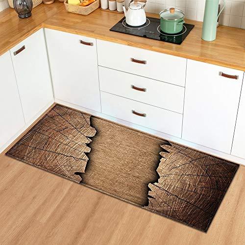 HLXX Tappetino da Cucina Ingresso per la casa Zerbino Camera da Letto Comodino Motivo a Grana di Legno Decorazione Pavimento Tappeto Bagno Tappeto Lungo Antiscivolo A20 40x60 cm
