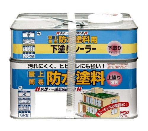 ニッペ 水性屋上防水塗料セット8.5KG グレー