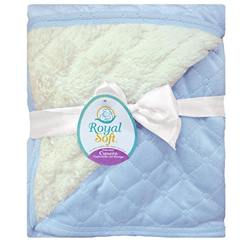 Royal Soft Cobija de bebé con borrega