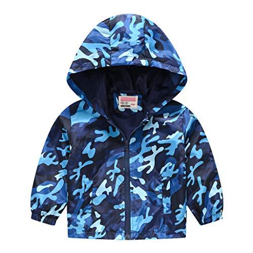 melupa Toddler Boys Girls Jacket Hooded Trench Dinosaur Lightweight Kids Casual Coats Windbreaker Outerwear
