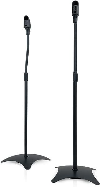 9HORN Pair Of Metal Speaker Stands Height Adjustable Black 1 Pair