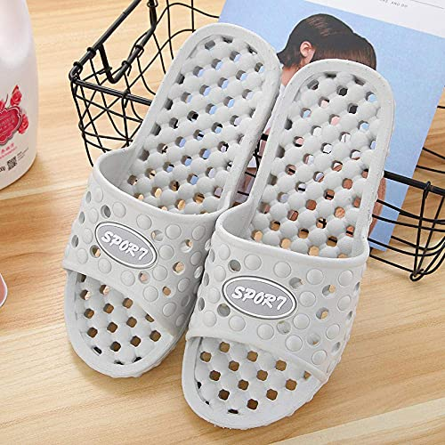House Soft Flip Flop Shoes for Indoor Openwork Leak Slippers Anti-Skid Soft Draft-B Purple_36-37 Womens Soft Summer House Slippers