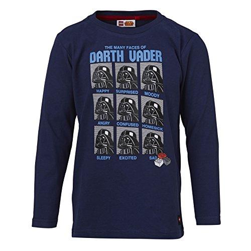 Lego Wear Jungen Lego Star Wars Timmy 656-Langarmshirt Langarmshirt, Blau (Dark Blue 581), (Herstellergröße: 110)