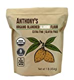 Anthony's Organic Almond Flour, 1 lb, Blanched, Gluten Free, Non GMO, Keto Friendly, Extra Fine, Low Carb