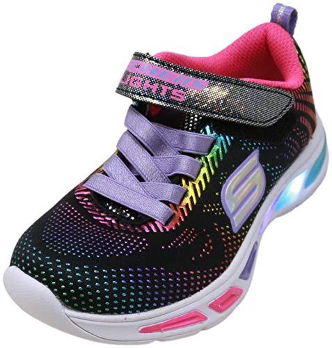 Skechers Kids Girls' Litebeams-Gleam N'DREAM Sneaker, black/multi, 10.5 Medium US Little Kid