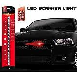 Rider Nightz 1205750 Scanner, Rosso 32 LED, 40 cm