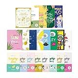 FaceTory Face Sheet Mask Bundle with 21 Facial Korean Skin Care Sheet Masks | Hydrating, Radiance Boost, Calming, Moisturizing, Balancing