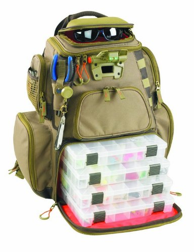 Wild River by CLC WT3604 Tackle Tek Nomad Lighted Backpack & Four PT3600 Trays