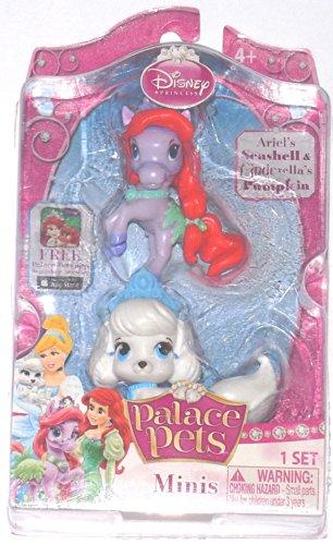 Disney Princess, Palace Pets, Mini Pets, Ariels's Seashell and Cinderella's Pumpkin, 2-Pack