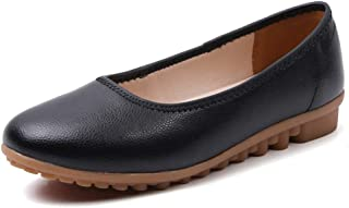 Womens Ballet Flats Slip on Loafers Comfortable Walking Driving Working Shoes