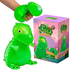 5. YoYa Toys Beadeez T Rex Squishy Dinosaur Stress Relief Toy