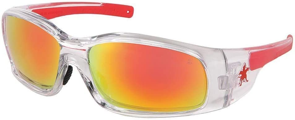 Crews SR14R Swagger Safety Glasses Clear w Mirror Super-cheap Le Frame Fire mart