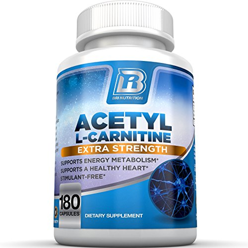 BRI Nutrition Acetyl L-Carnitine - Natural Supplement to Help Boost Energy Production, Support Memory/Focus, Promote Positive Mood - 500mg 180 Vegetable Cellulose Capsules