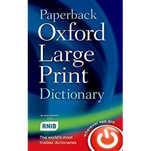 Paperback Oxford Large Print Dictionary:Tytoftetsi