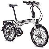 '20pollici e di Bike e bici pieghevole bicicletta pieghevole City Ruota chrisson EF12018con 8G Acera & bafang Generation 2con 8,7AH Samsung Celle Bianco