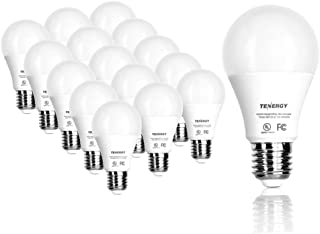 Tenergy LED Light Bulb, 9 watts Equivalent A19 E26 Medium Standard Base, 5000K Daylight..