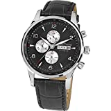 Jacques Lemans Herren Analog Quarz Smart Watch Armbanduhr mit Leder