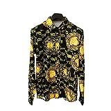 Camisa de Hombre Otoño Impresión Digital Europea y Americana Camisa de Manga Larga Natación al Aire Libre Pesca Goft Senderismo 3X-Large