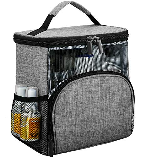 Enlarged Hanging Shower Caddy Tote Bags, Water Resistant Easy Dry Fabric Pvc Mesh Toiletry Bags for Men Women Travel Gym College