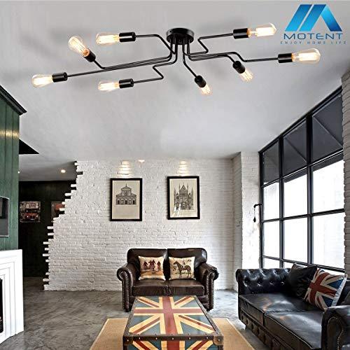 Vintage 8-flammige Deckleuchte, MOTENT minimalistisch Modern Industrielampe 27,17