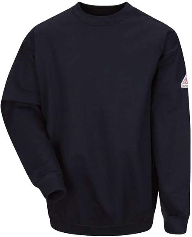 Bulwark FR Men's SEC2 Brushed Fleece Crewneck Sweatshirt- CAT 2 - Flame Resistant