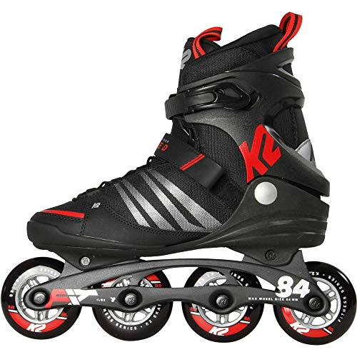 K2 Herren F.I.T. 84 Speed Alu Skateboardschuhe, Schwarz (Black/Red 001), 46 2/3 EU