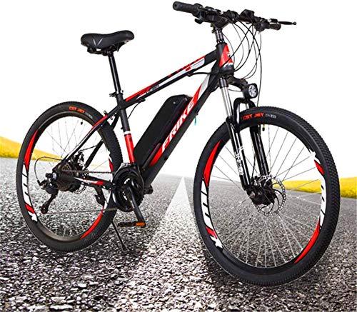 RDJM Bici electrica Adultos montaña de Bicicleta eléctrica de 26 Pulgadas 250W híbrido for Bicicleta 36V 10Ah neumático Todoterreno del Freno de Disco Delantero Tenedor de montaña con suspensión y de