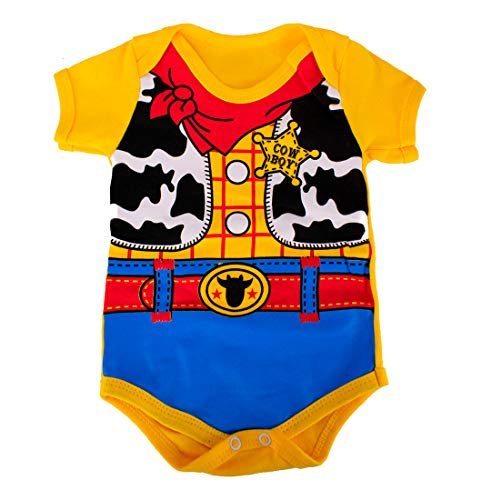 Body Bebê Menino Fantasia Mesversário Toy Story