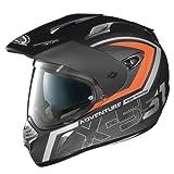 X-Lite X de 551Adventure N- Com–Casco Integral, Color Negro Mate de Naranja, tamaño XXL...