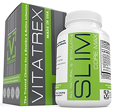 ? SLIM CORE 4 ?Natural Weight Loss Supplement with Garcina Cambogia, Green Tea, Raspberry Ketones & More 60 Capsules–All Natural Appetite Suppressant & Energy Booster Diet Pills–Made in USA & Vegetari