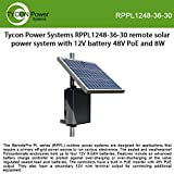 Tycon Power Systems RPPL1248-36-30 Remote Solar Power System with 12V 34Ah Battery and 48V PoE