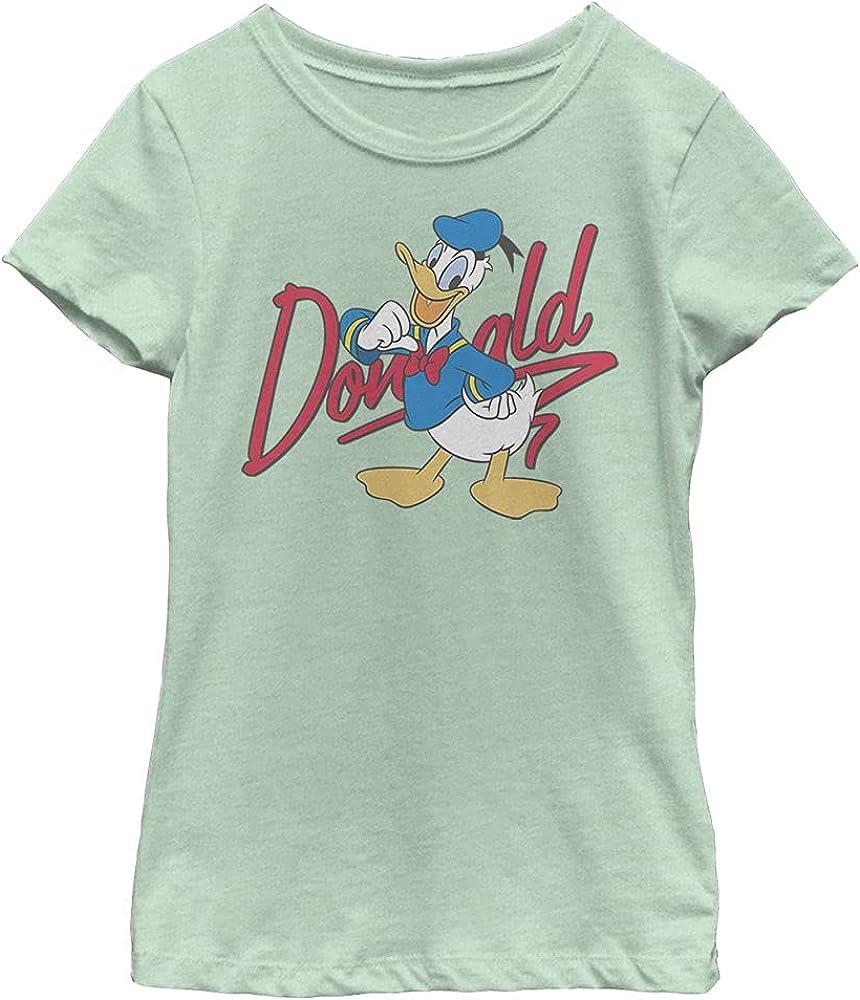 Disney Characters Signature Donald Girl's Heather Crew Tee