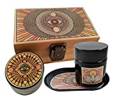 Stash Box Combo - Accessories Kit, Locking Wooden Box with Grinder, Rolling Tray