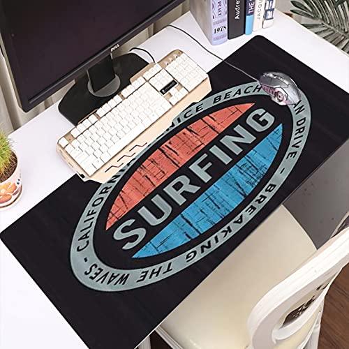 FAQIMEI Alfombrilla Gaming para PC Surf y Surf California Venice Beach Grunge Stamp, Máxima Precisión con Base de Caucho Natural, Máxima Comodidad