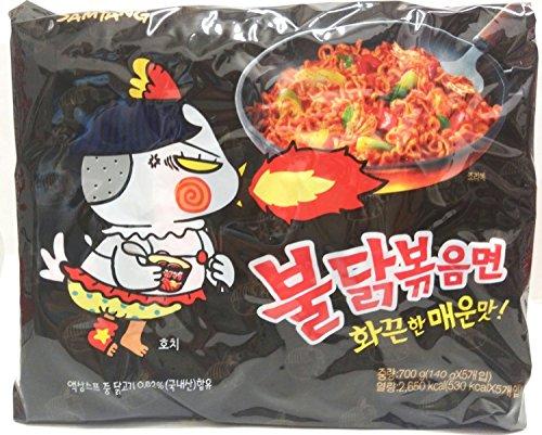 Samyang Ramen/Spicy veWgF Chicken Roasted Noodles, 5 Count (4 Pack)