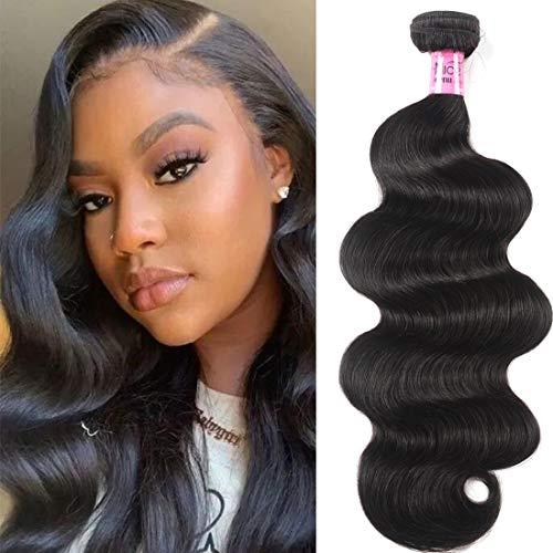 UNice Hair Icenu Series Hair Brazilian Body Wave Virgin Hair 1 Bundle, Raw Unprocessed 100% Virgin Human Hair Weave 95-100g/pc Natural Color 16inch