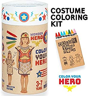 Superhero Costume for Boys and Girls Ages 3-7, DIY Coloring, Arts and Crafts
