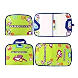 GOODYEZZ Water Doodle Play Mat for Kids, Water Painting Drawing Board & Magic Pen, Foldable in Easy Portable Travel Bag 14' X 11' (Light Green)