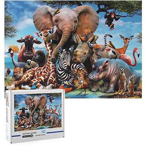 Uncle Jack Puzzle 1000 Pieces,Puzzle Erwachsene,Helle und farbenfrohe Puzzles, Indoor-Puzzle-Kreativspiel zur Entspannung von Erwachsenen und Erziehung von Kindern oder als Geschenk (Madagaskar)
