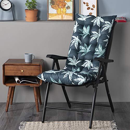 FF Era Non-Slip Rocking Chair Cushion, Sun Lounger Cushion high-Backed Cushion, Thick Extra Large Relaxer Thick seat Cushion Deck Chair Cushion Rocking Chair seat Cushion Garden Cushion (Leaves)