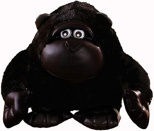 Plüschtier Gorilla schwarz Diamond Puppe, niedliche AFFE Puppe, Kinder Erwachsene Puppe Kissen Urlaub Geburtstagsgeschenk Fyxd