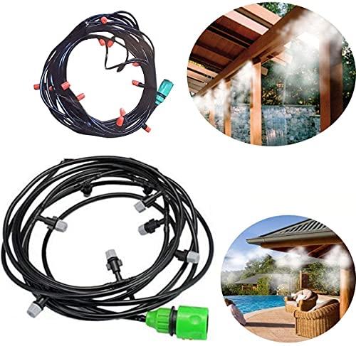 Madprice - Kit de nebulizador de agua, nebulización, carpa, sombrilla, jardín, refrigeración, 20 m