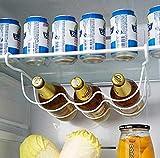 CCLLA Kühlschrank Küchenregal Regal Dose Bier Wein Flaschenhalter Organizer Küche...