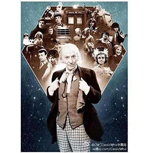 Doctor Who Temporada 1 (1963) Serie de TV mostrar carteles Pintura en lienzo Póster artístico Impresión de la pared del hogar Decoración de la sala de estar -50x70cm Sin marco